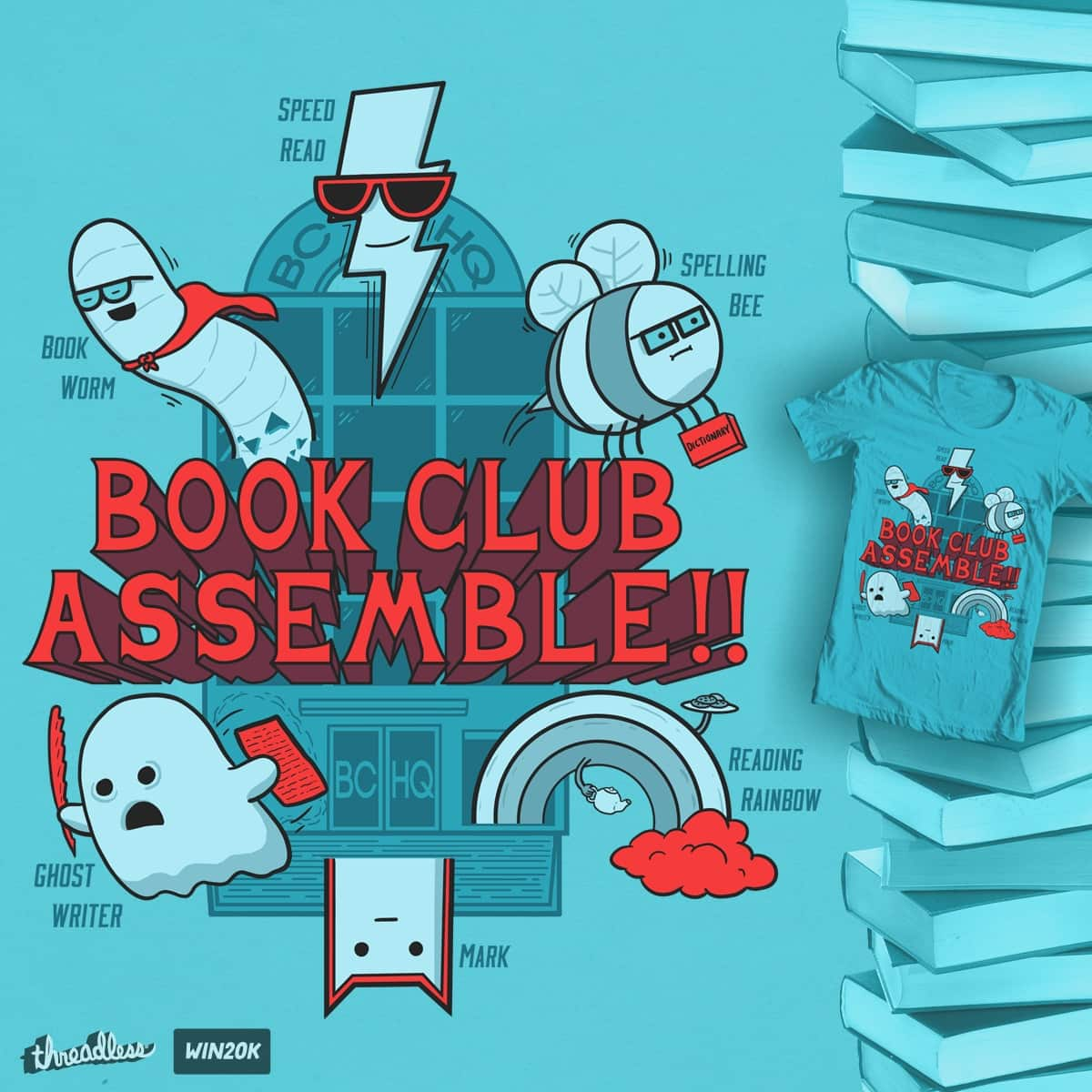 By The Power Of Literature! by FRICKINAWESOME and P0ckets on Threadless