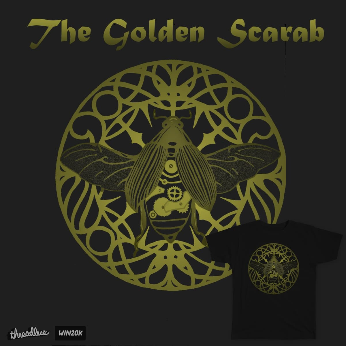 The Golden Scarab by TRYBYK on Threadless