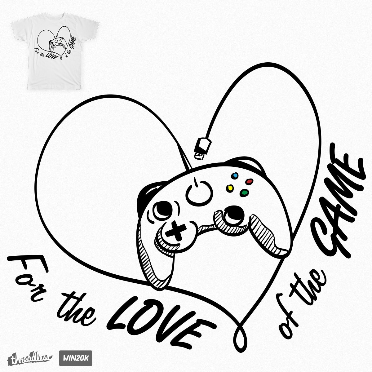 For the love of the game. by RadRocketDesign on Threadless