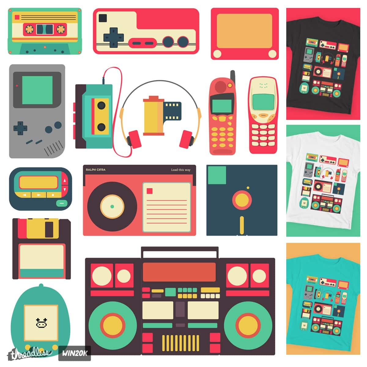 Retro Technology by rtcifra on Threadless