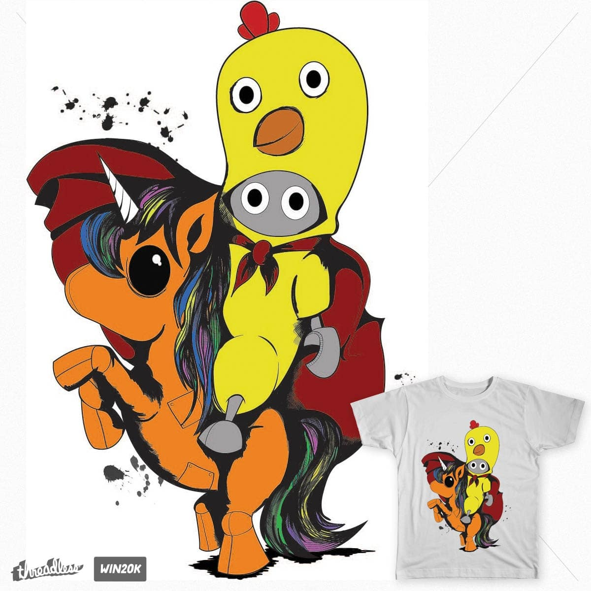 Cluck and the Unicorn by 2215 on Threadless