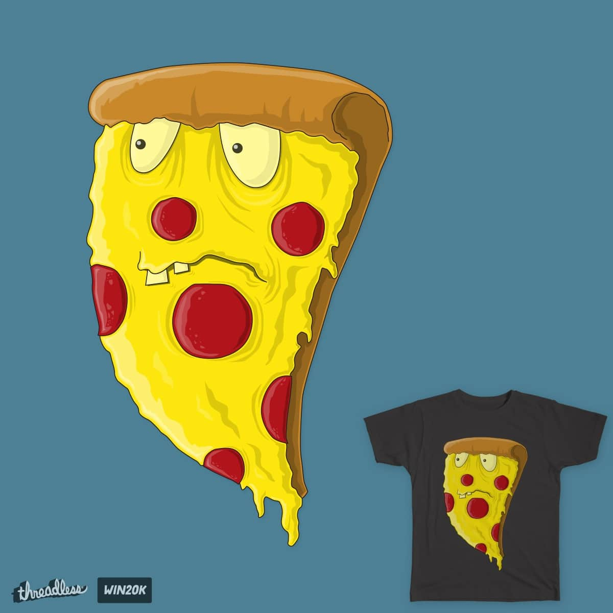 Pizza Zombie by SheepdogDesigns on Threadless