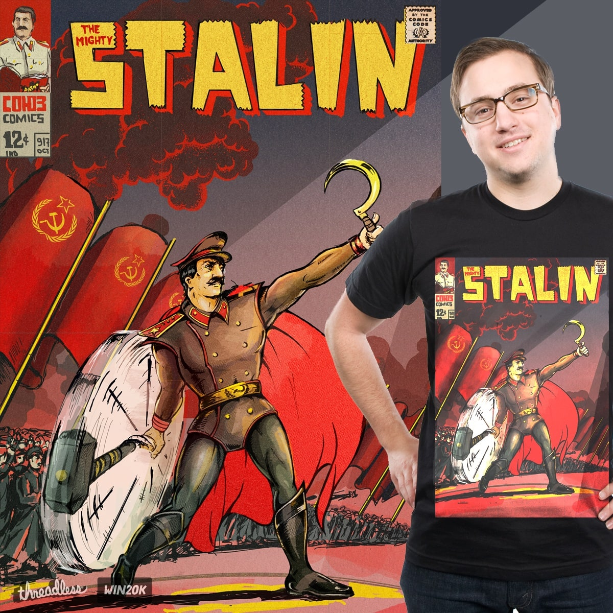 The Mighty Stalin by paper_cranium on Threadless