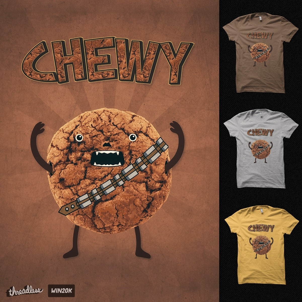 Chewy Chocolate Cookie Wookiee by badbugs_art on Threadless