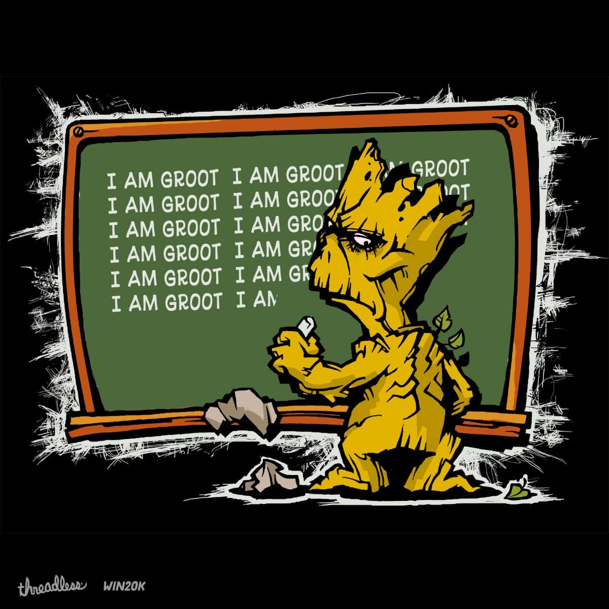 Groot Simpson by atticus042bc684464731a48df on Threadless