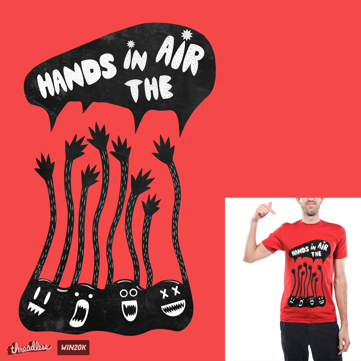 Hands In The Air 2 by JianART on Threadless