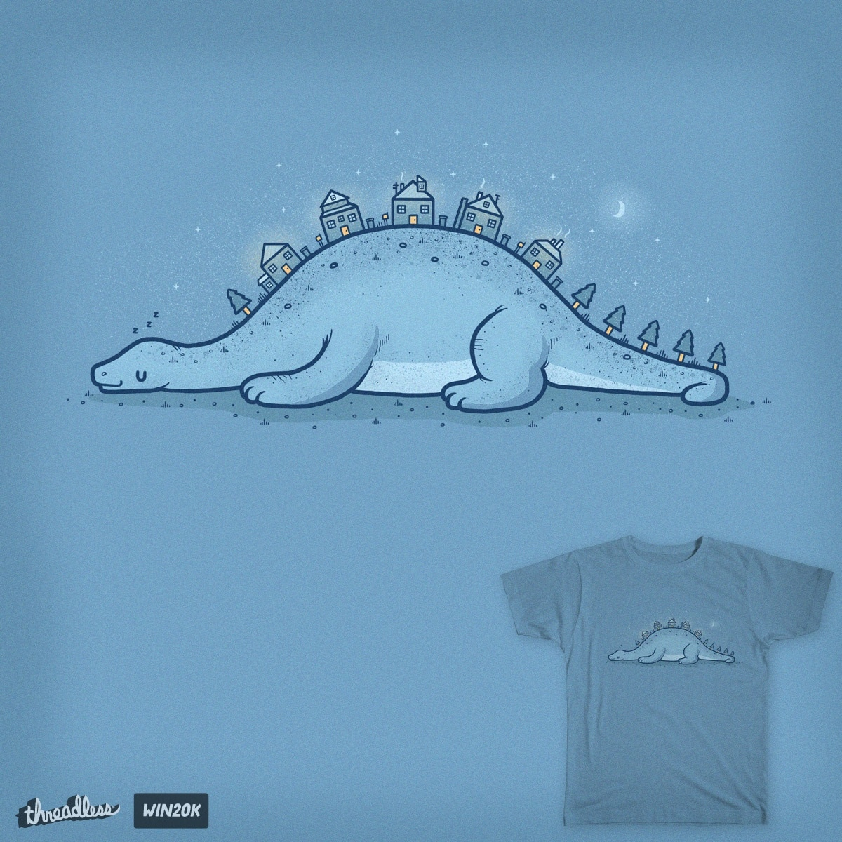 Homes on the hill by randyotter3000 on Threadless