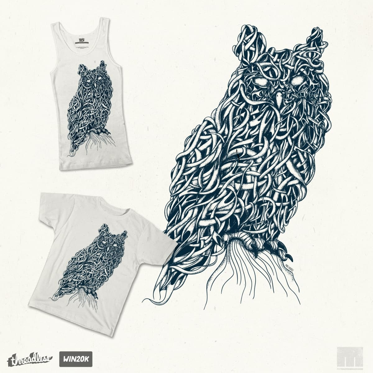 Owl by mikekoubou on Threadless