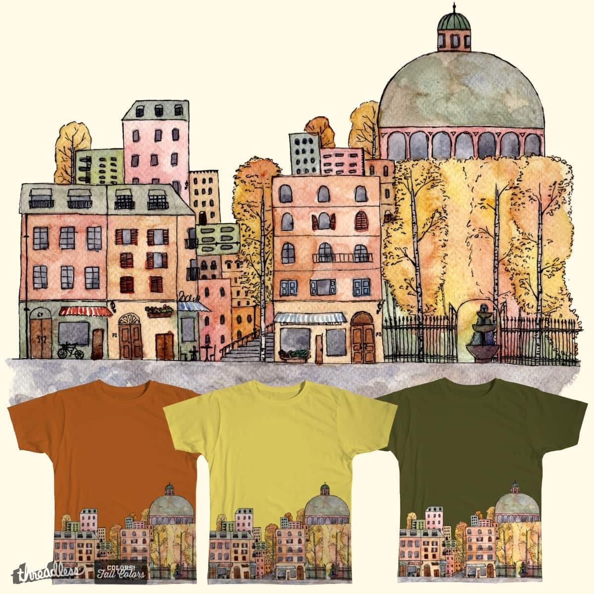 Autumn in the city by RowenaH on Threadless