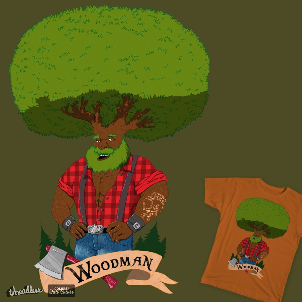Woodman by CathyChene on Threadless