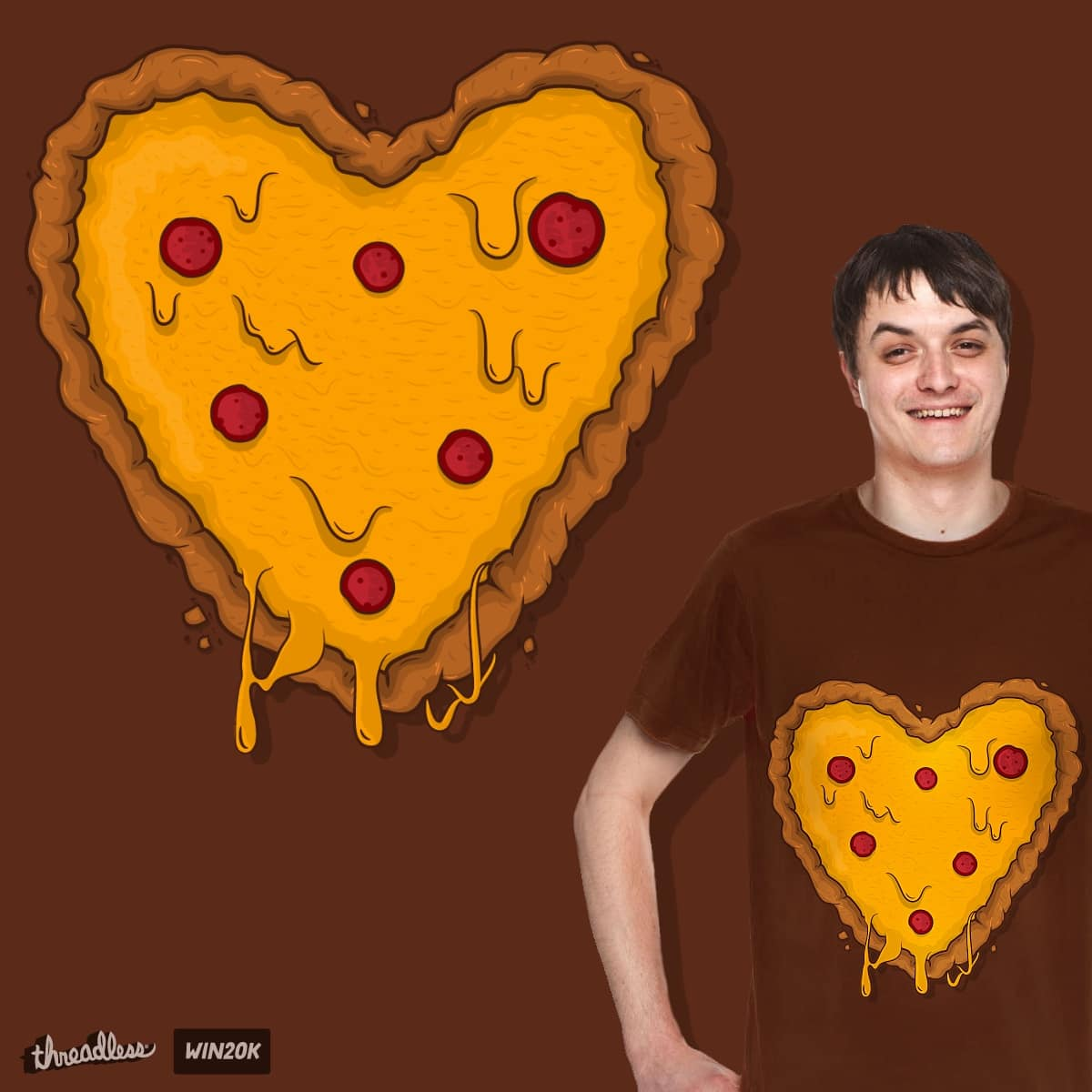 Pizza Love by sloorp on Threadless