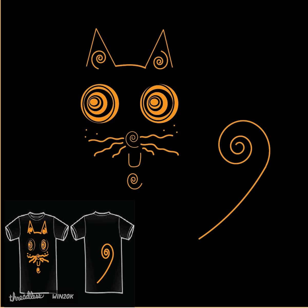 Dizzy Cat by WednesdayCat on Threadless