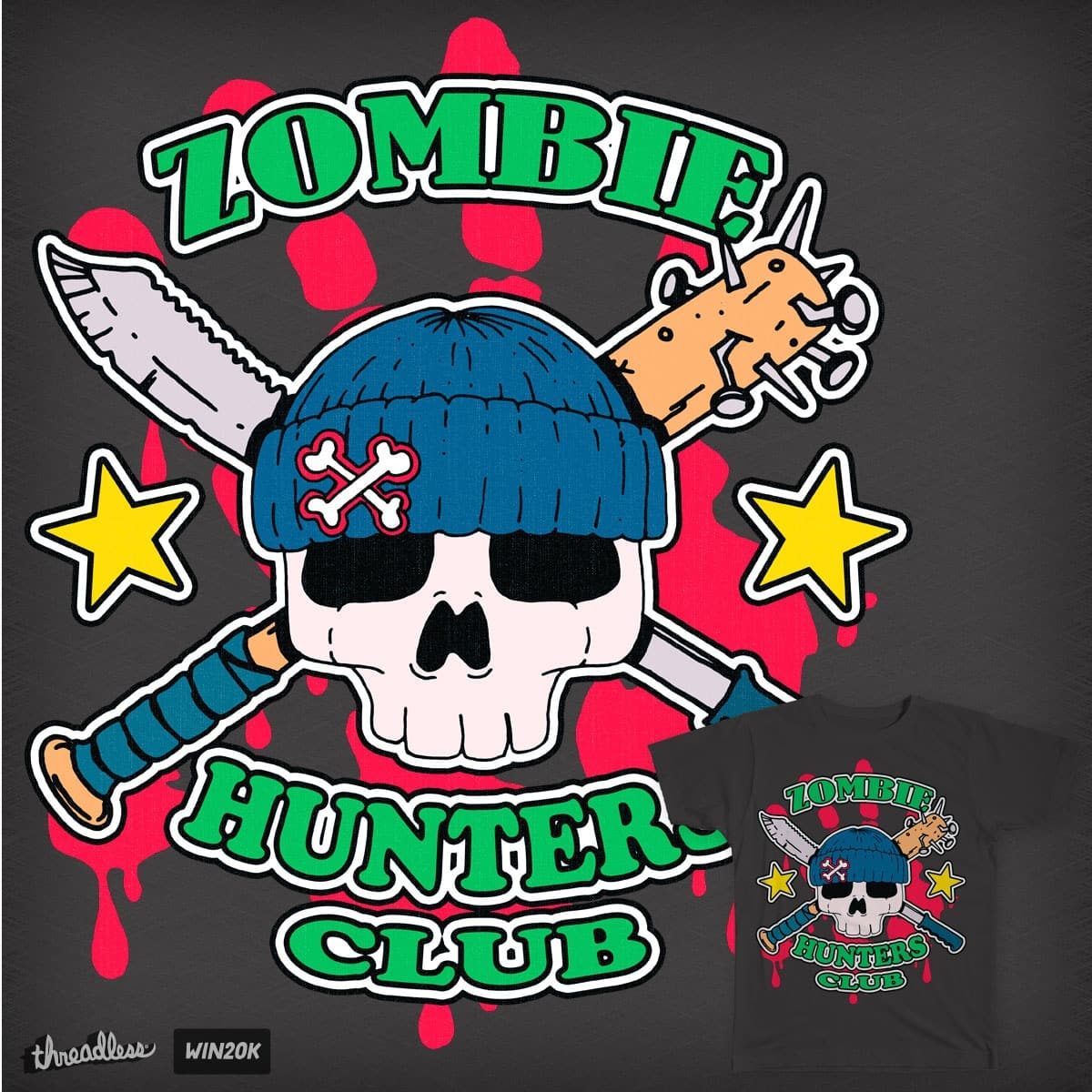 Zombie Hunters Club : Boy by hassified on Threadless