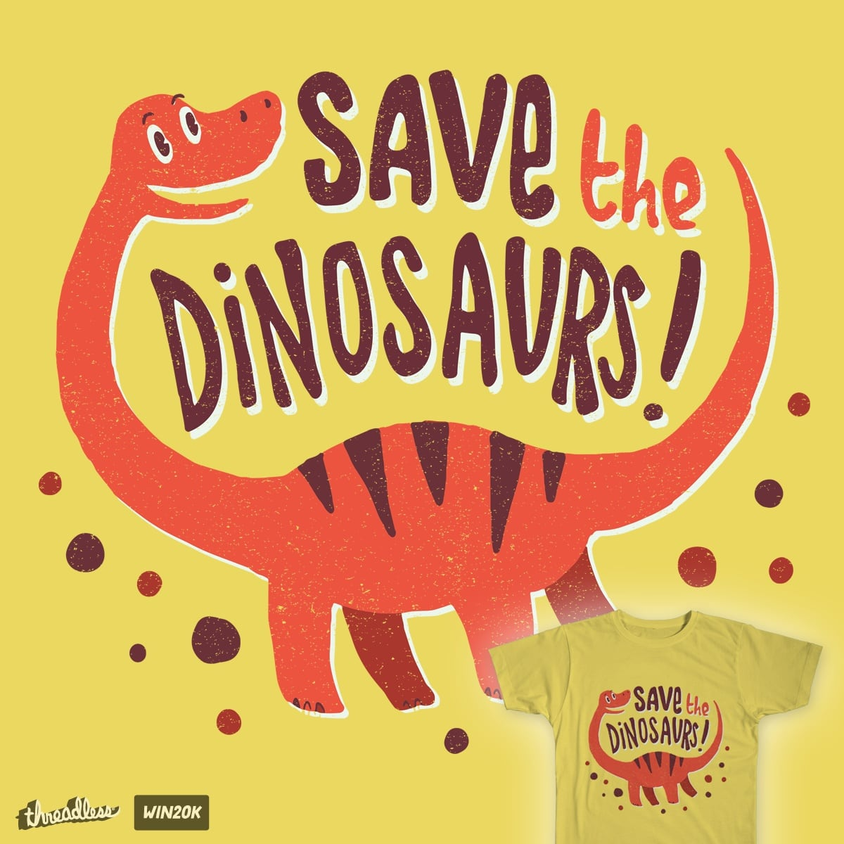 Save The Dinosaurs! by Tabners on Threadless