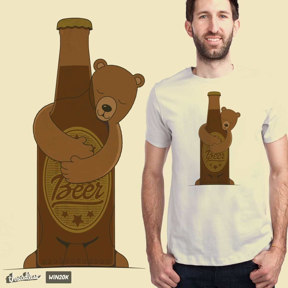 BEER HUG by emeryg on Threadless