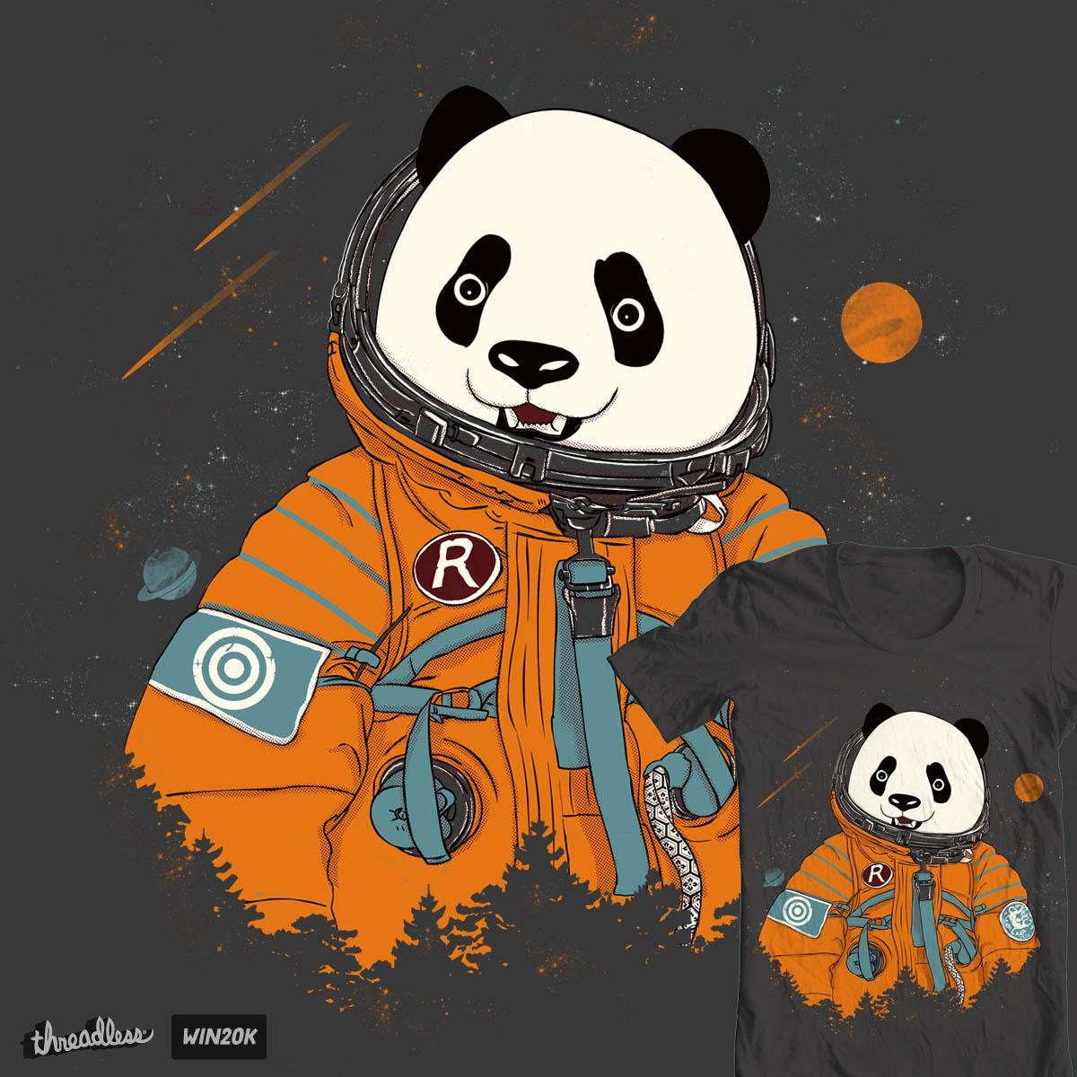 Pandastronaut by xiaobaosg on Threadless