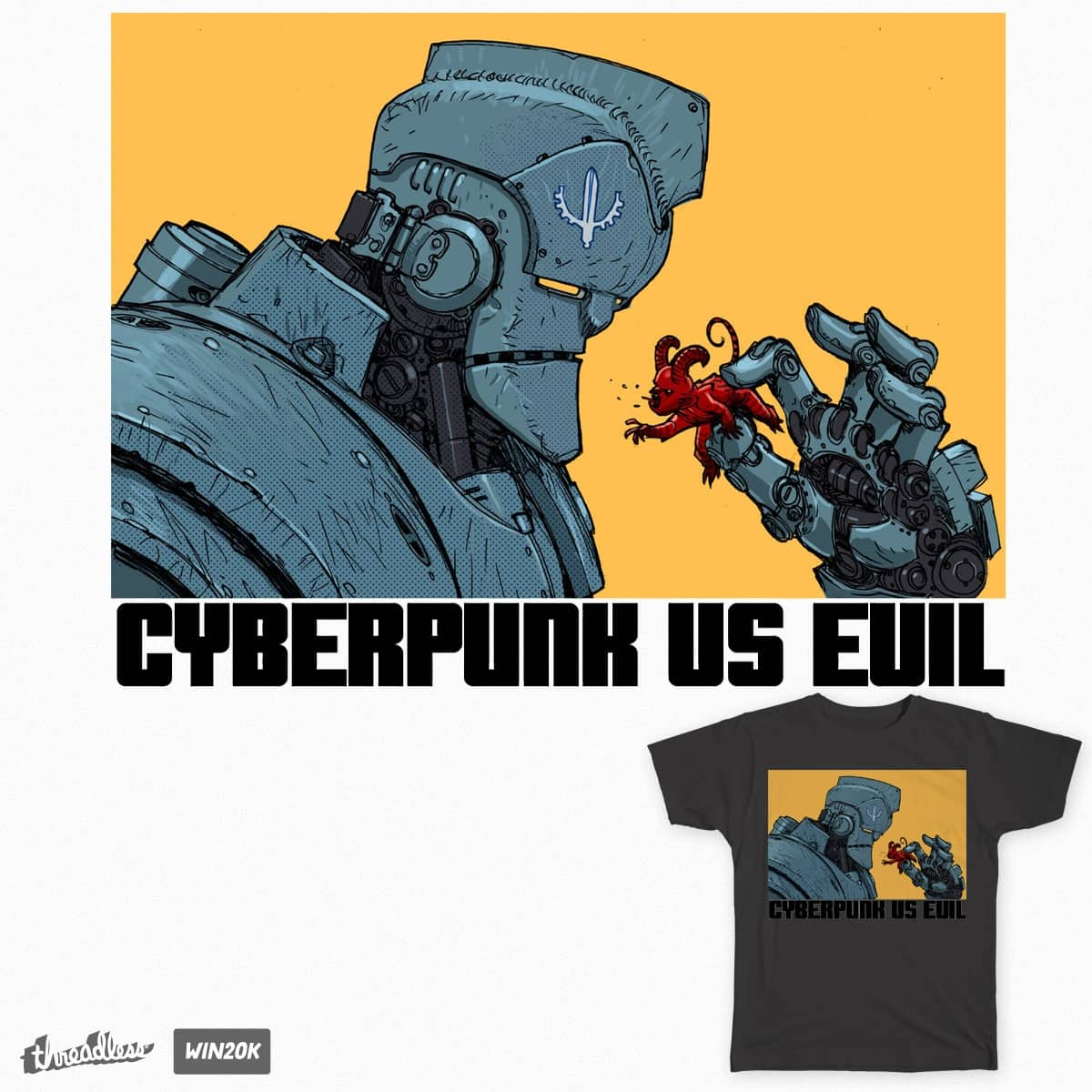 cyberpunk vs evil by fruiz72 on Threadless