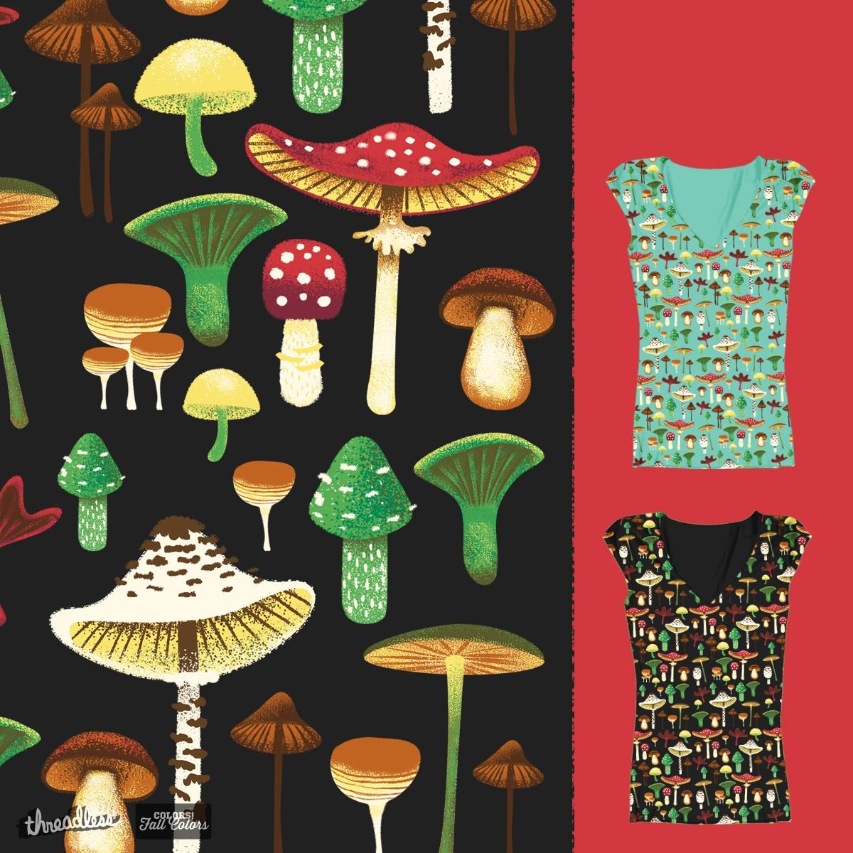Mushroom pattern by deadsquirrel on Threadless
