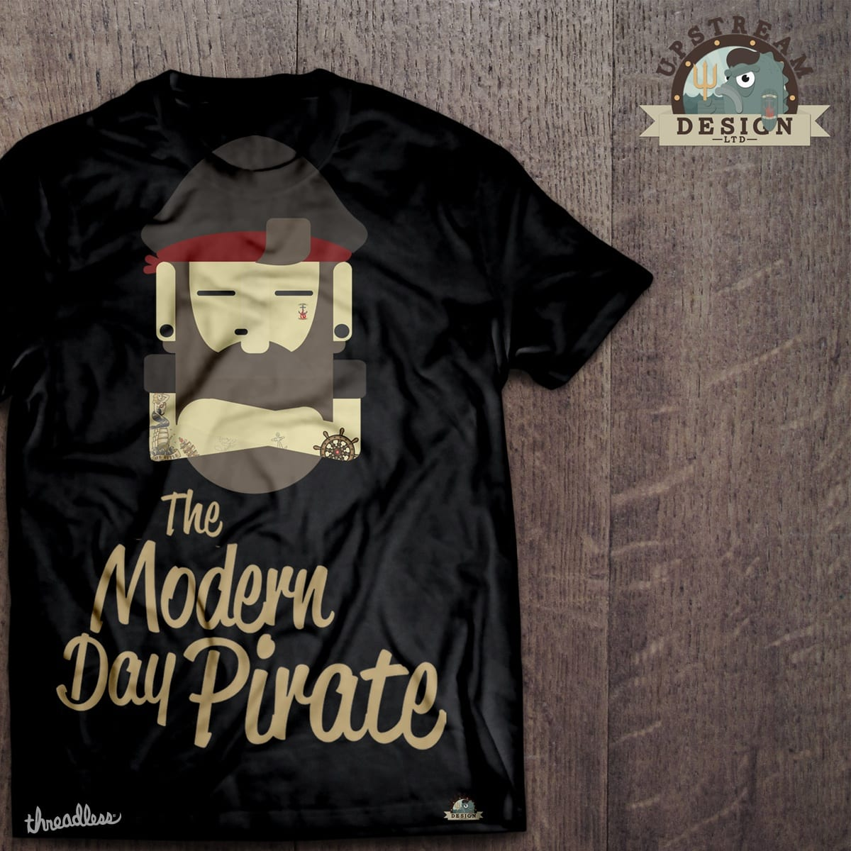 The Modern Pirate by Upstream_Design on Threadless