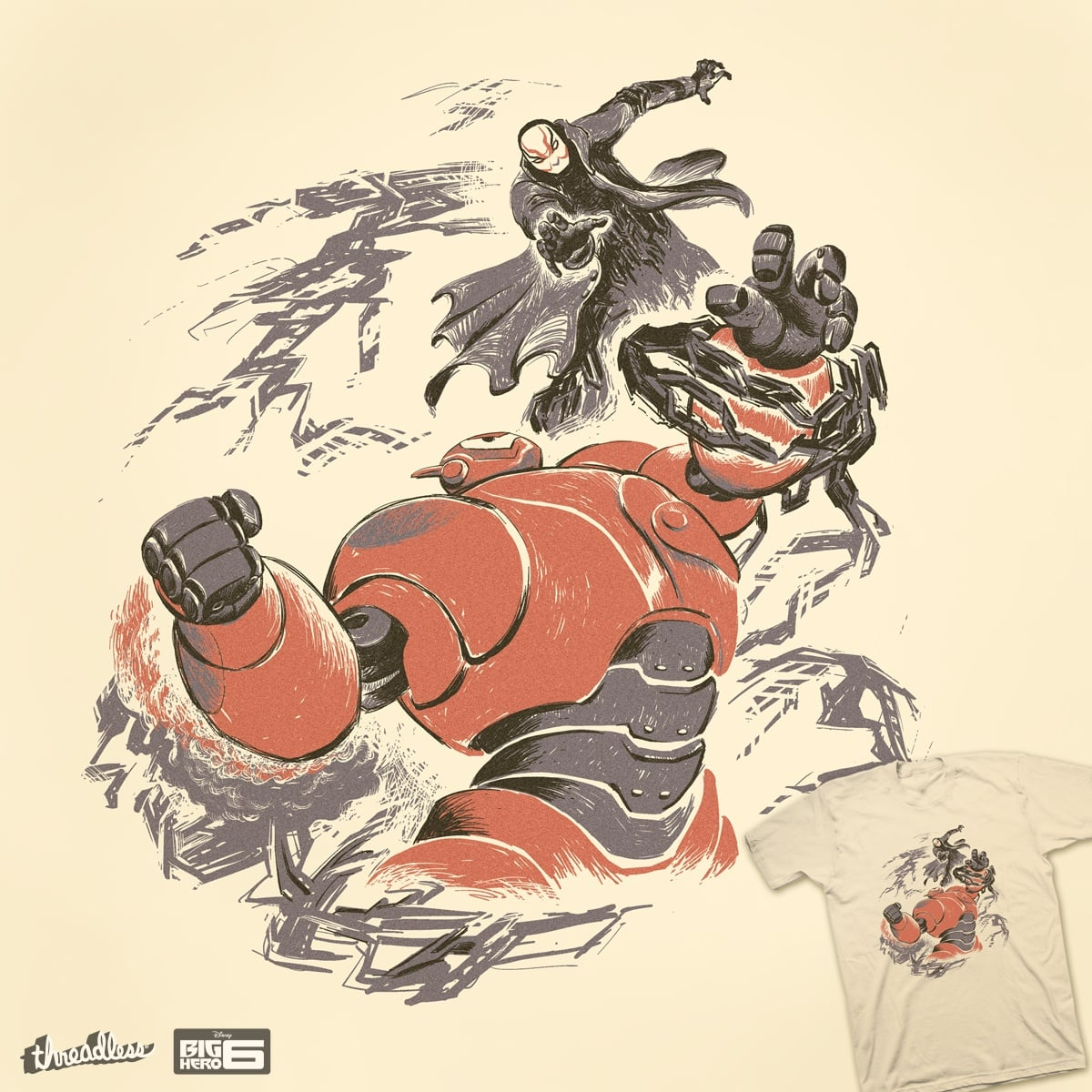 Bot Fight by ndanzi on Threadless