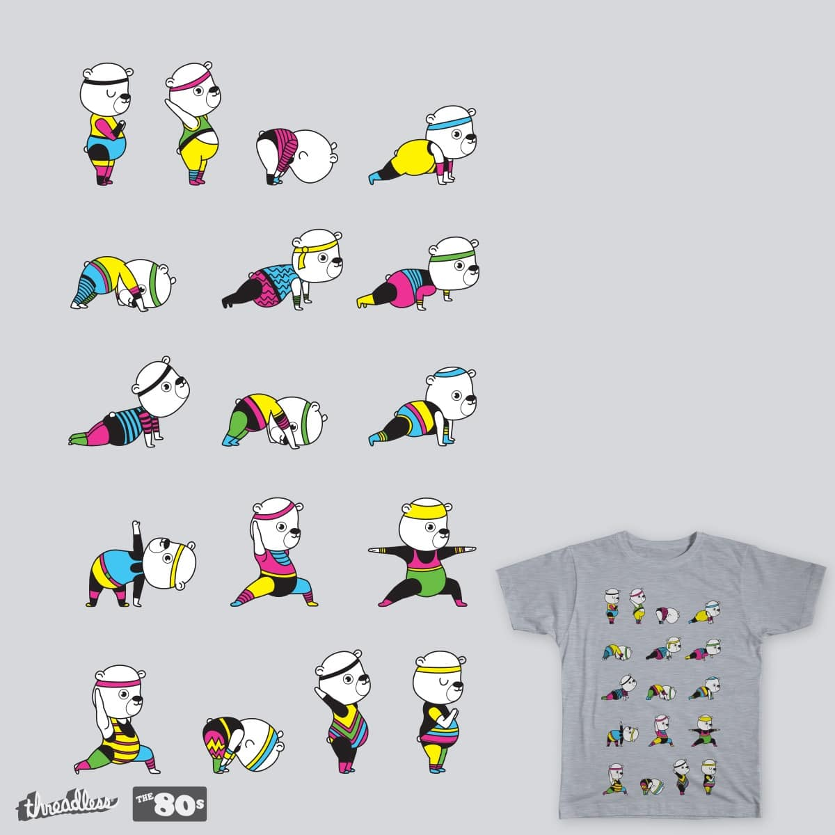 Yoga Bear - 80's Remix by ivejustquitsmoking on Threadless