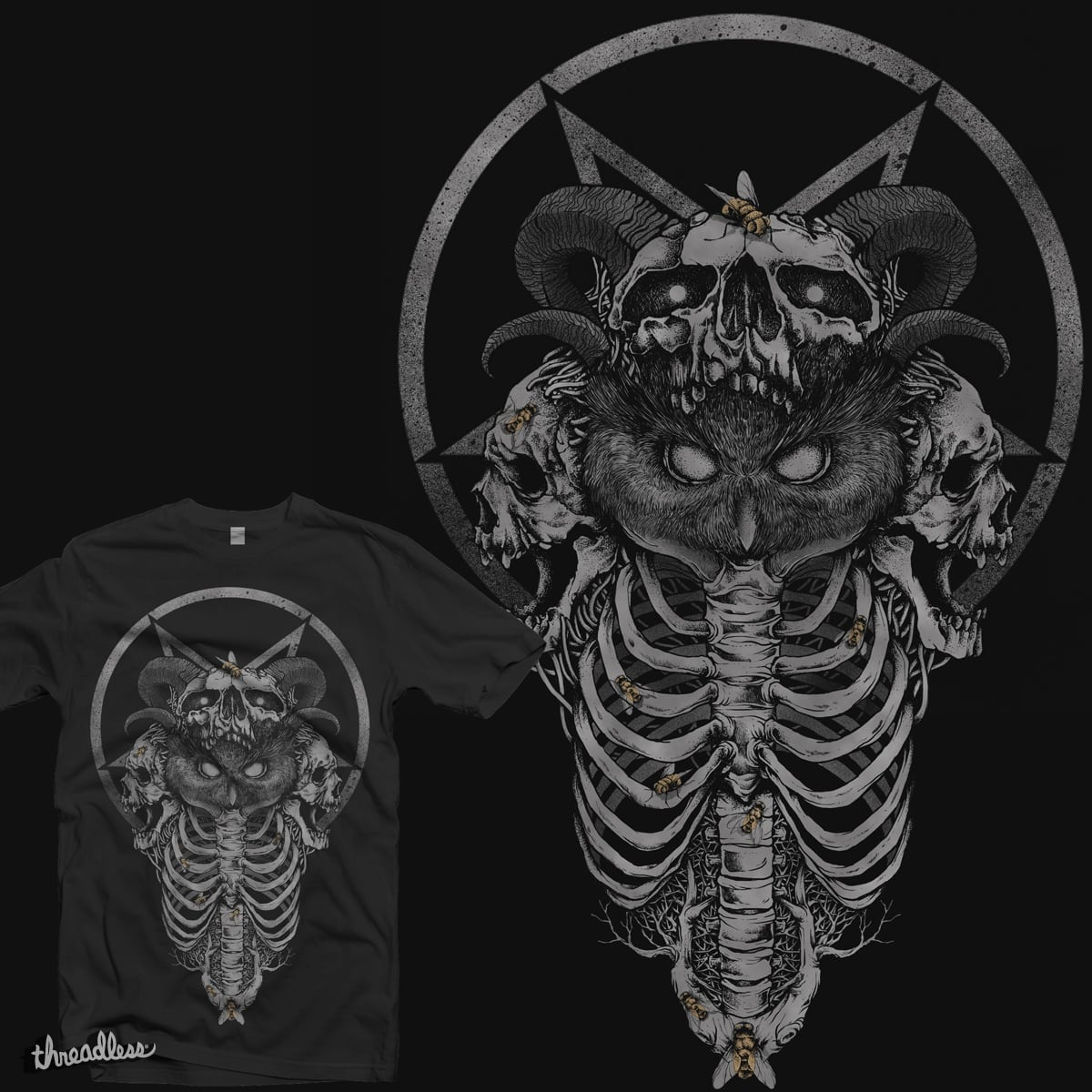Dark Owl by mushi27 on Threadless
