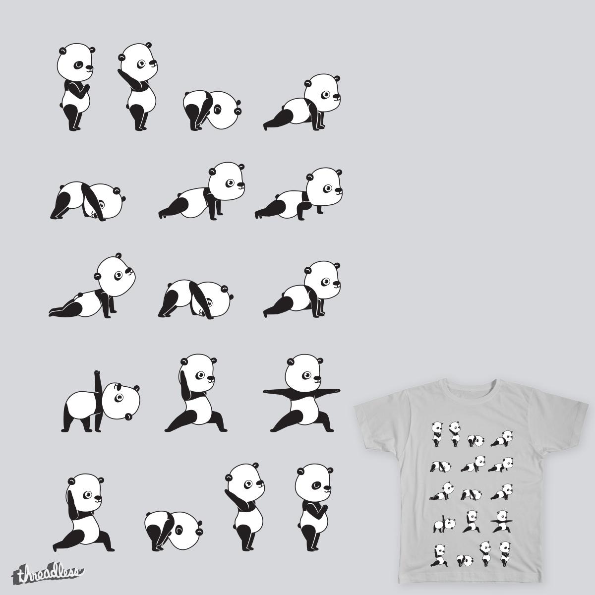 Yoga Bear - Panda by ivejustquitsmoking on Threadless
