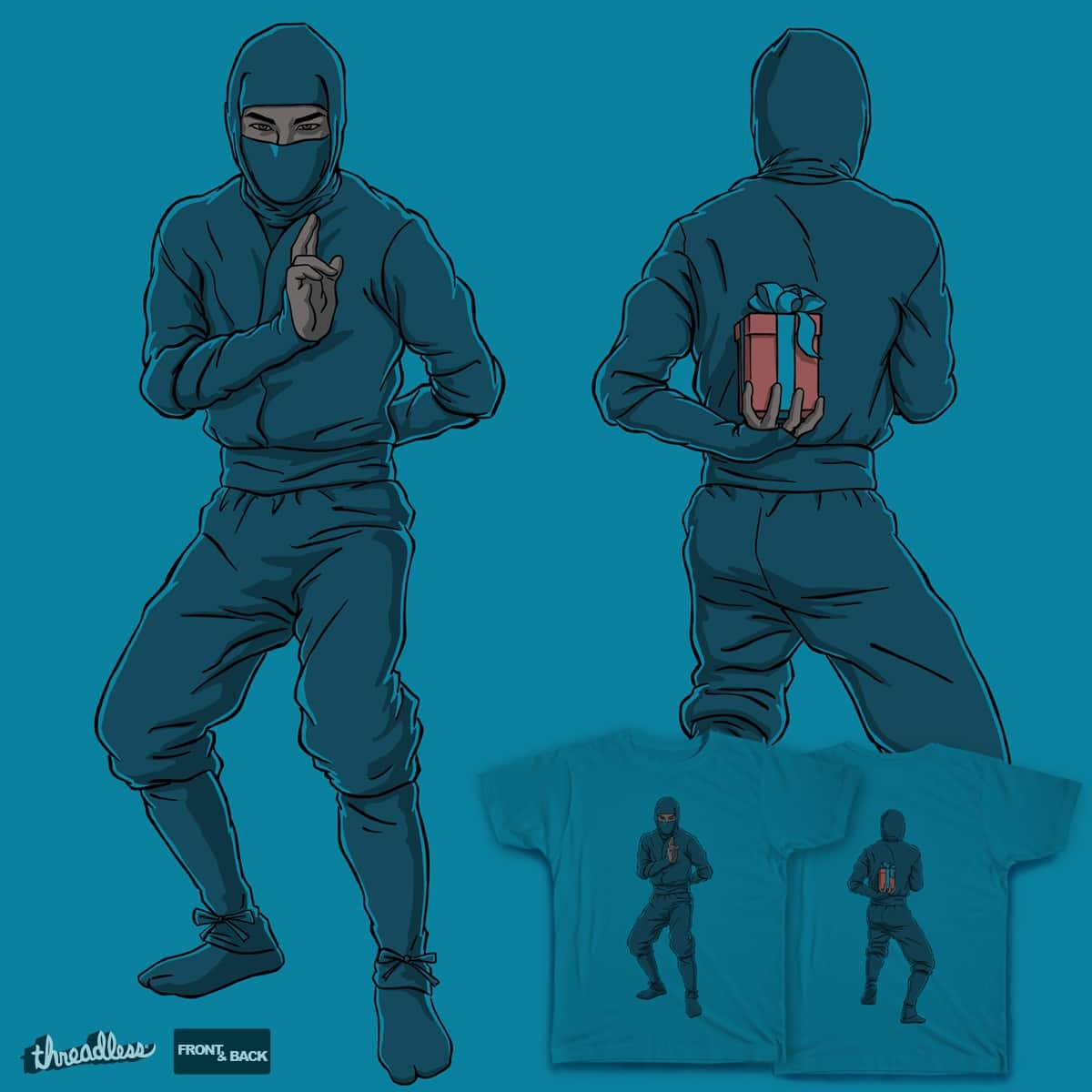 Ninja Gifter by Moutchy on Threadless