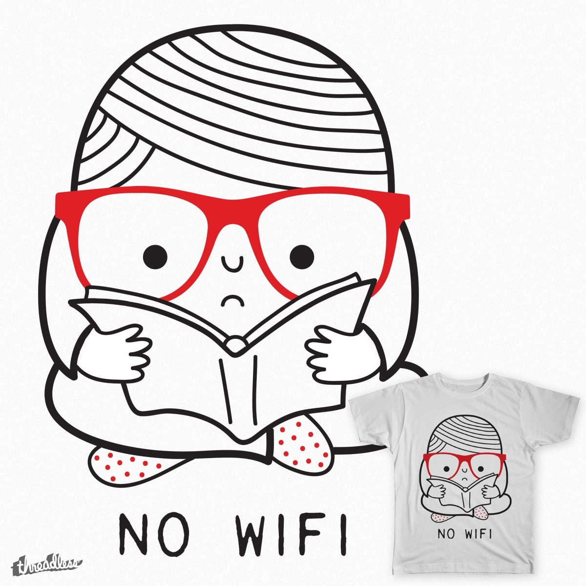 No wifi by Farnell on Threadless