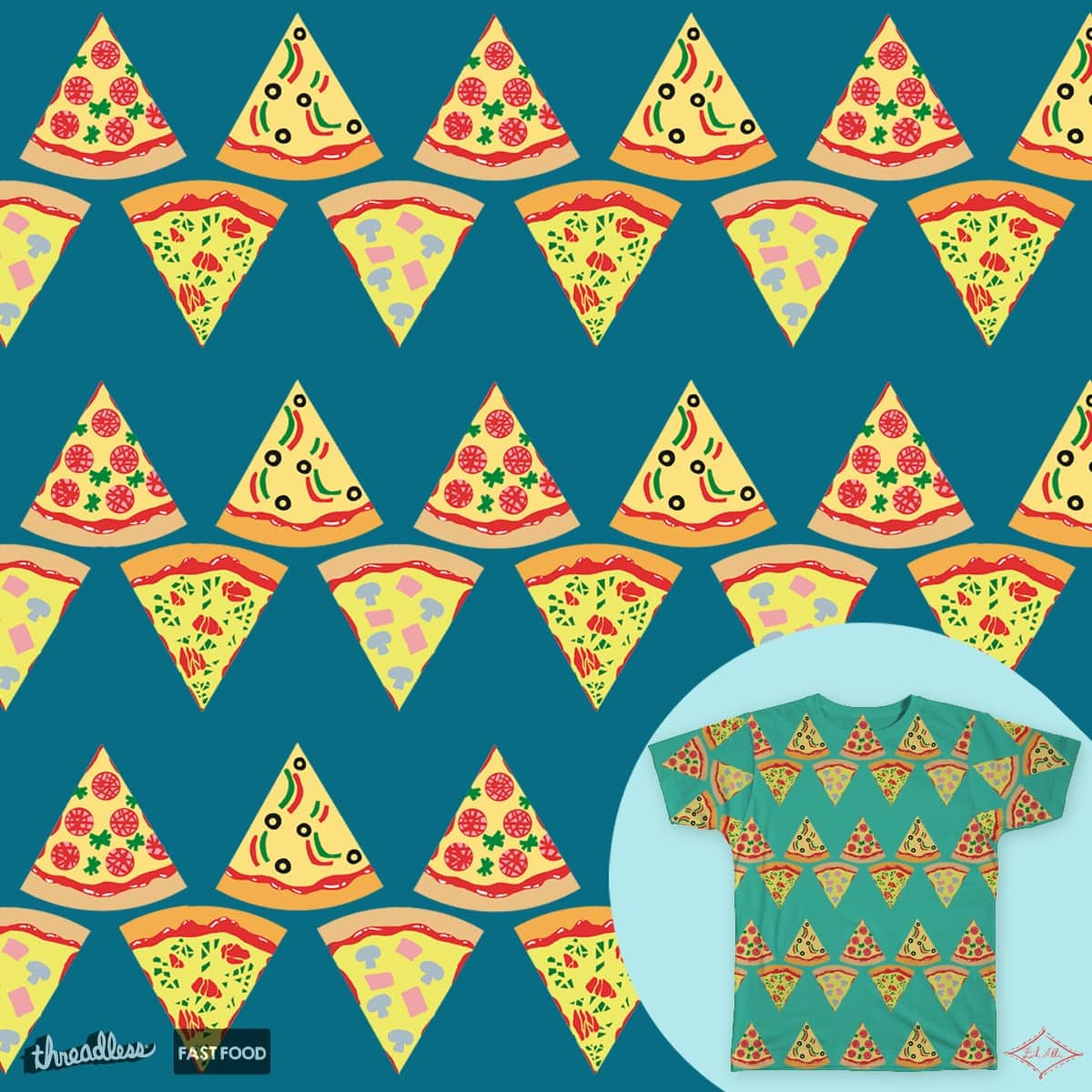 Pizza Zig-zag by Well-es-bien on Threadless