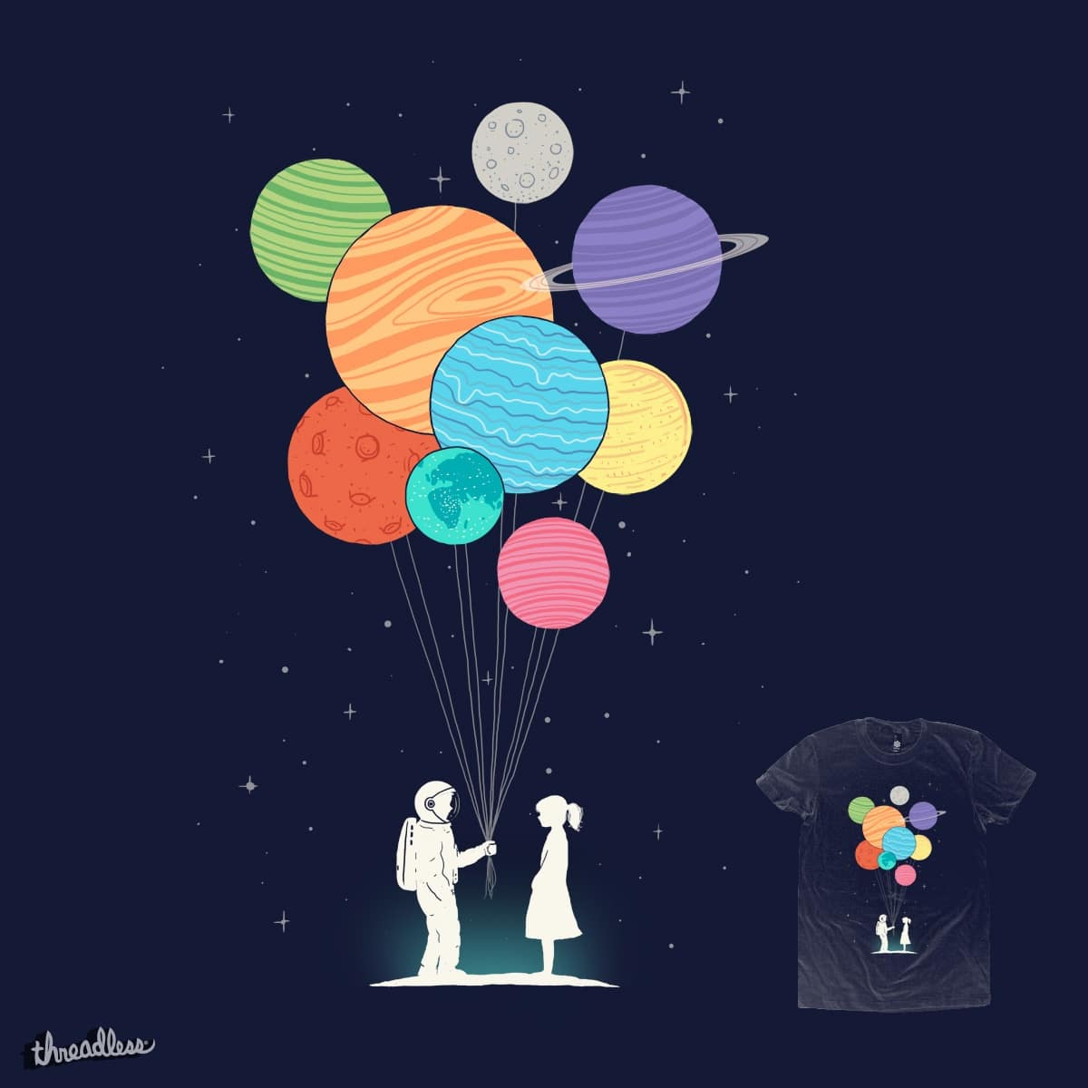 You Are My Universe A Cool T Shirt By Ilovedoodle On