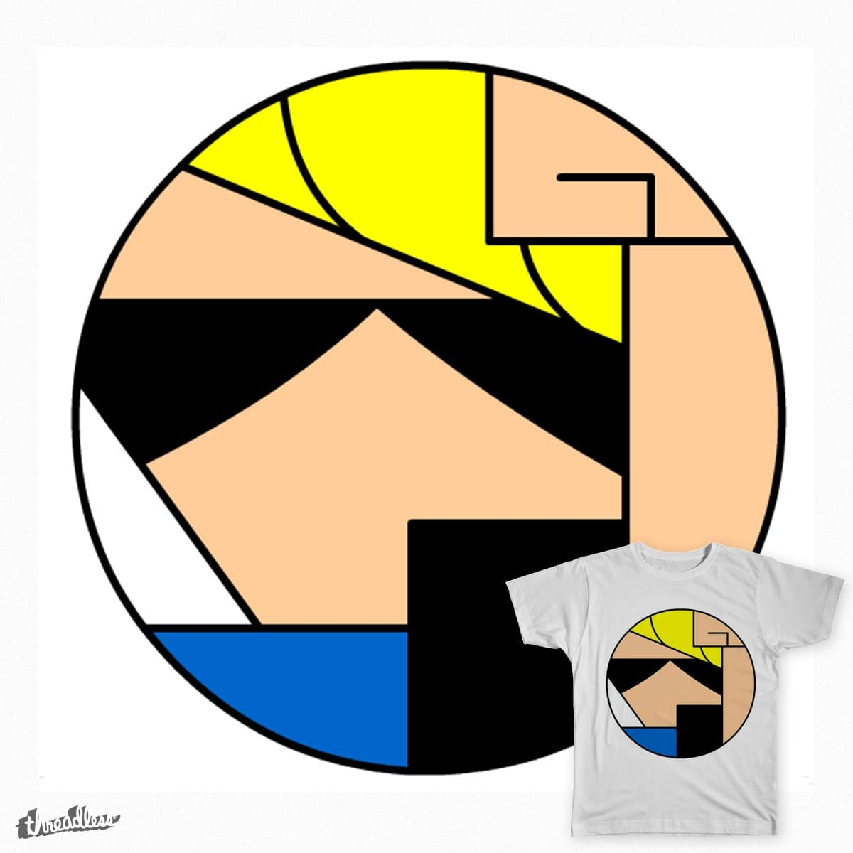 Johnny Bravo - Cartoon Circle by Birdstick on Threadless