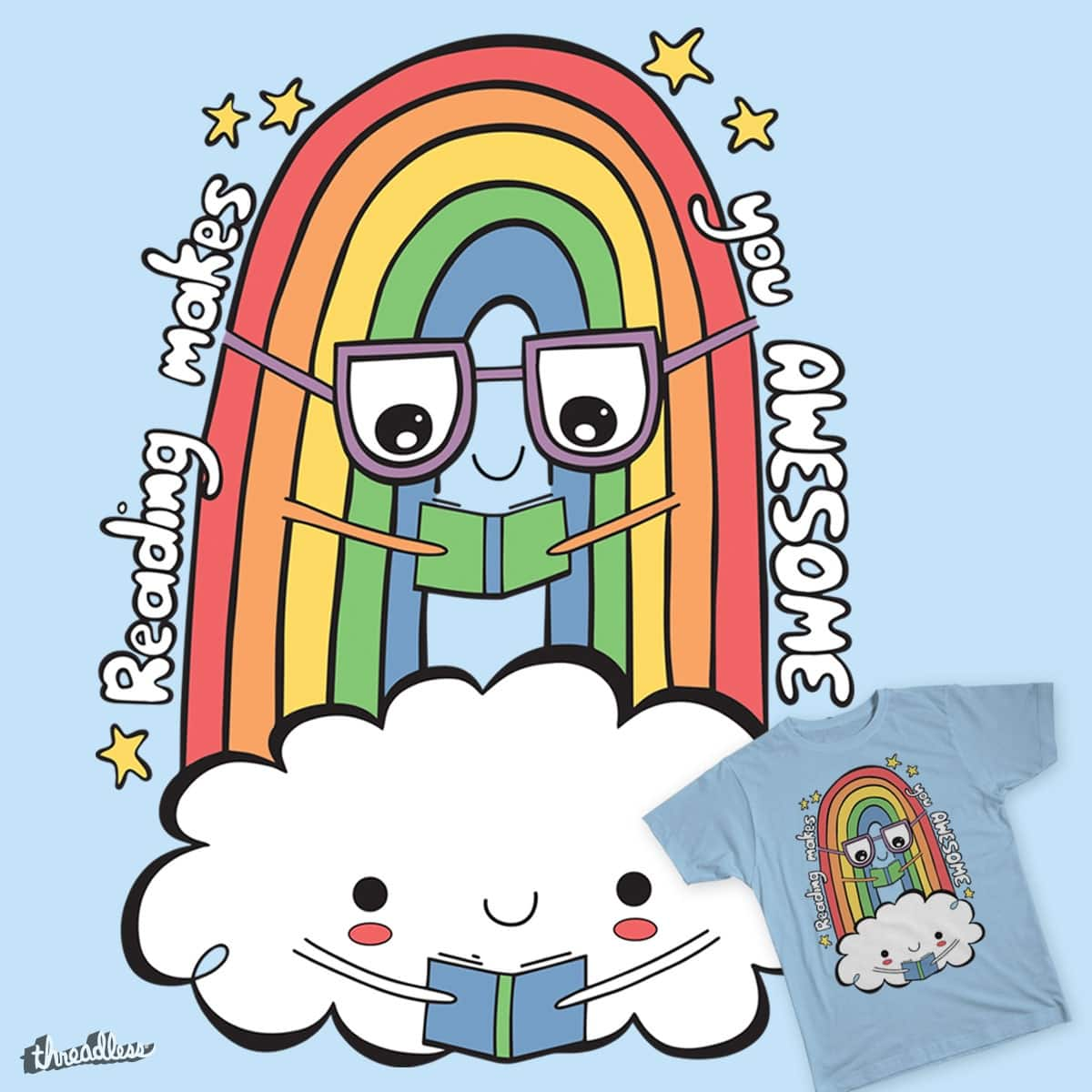 Reading Makes You Awesome by treemanjake on Threadless