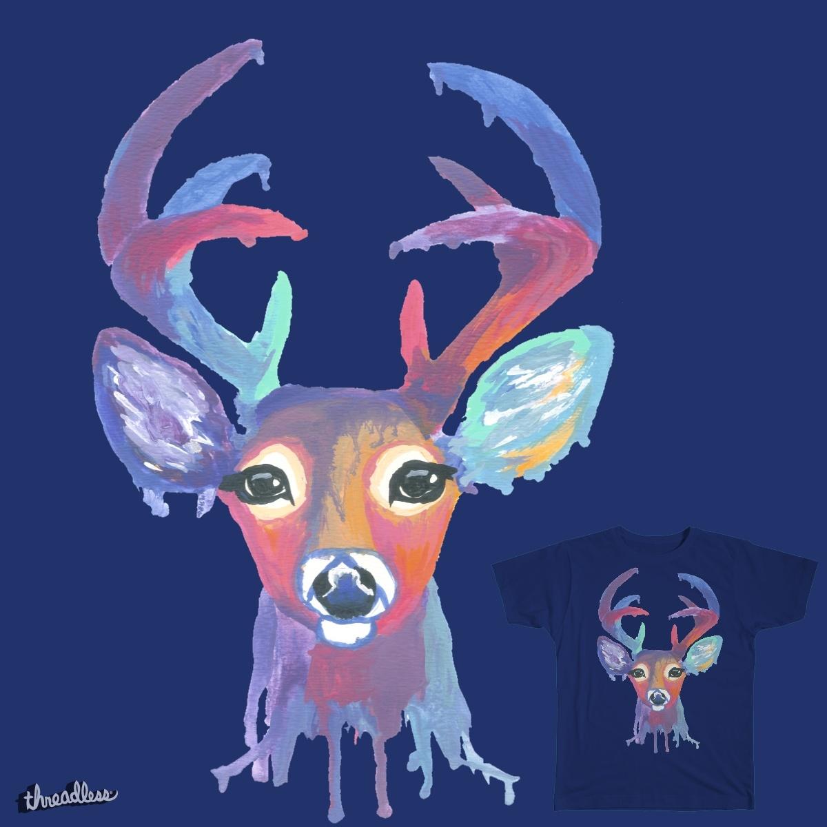 Rainbow Deer Head by Zeldy on Threadless