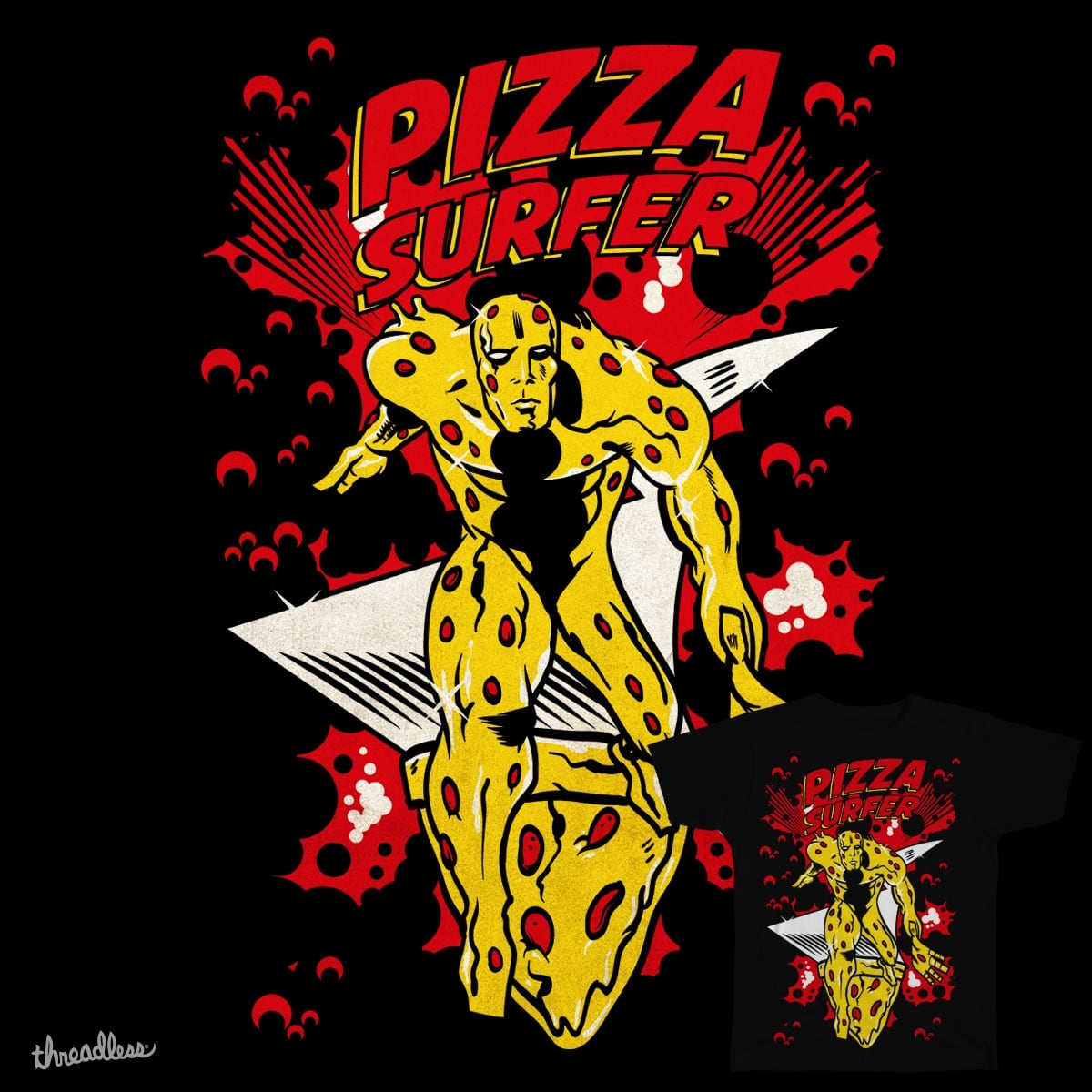 Score PIZZA SURFER by humandefect1989 on Threadless