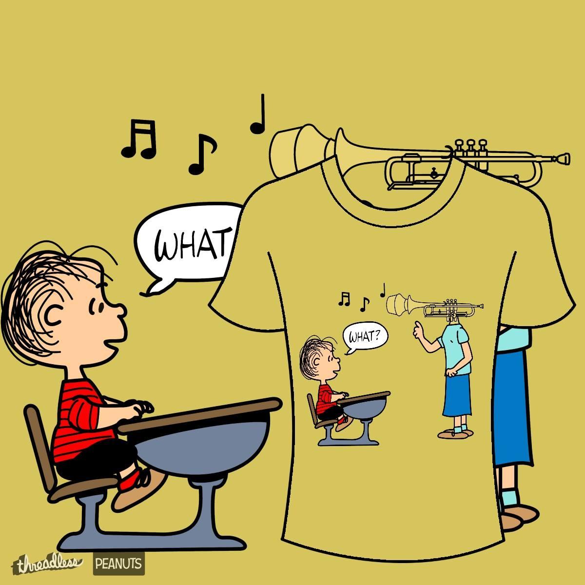 Score Trumpet Head by 9teen on Threadless