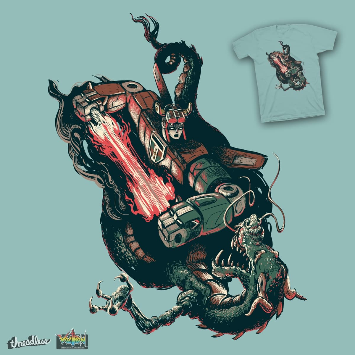 Blazing Battle by ndanzi on Threadless