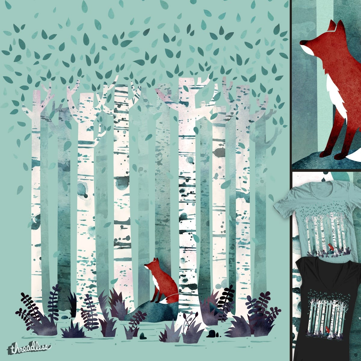 The Birches by littleclyde on Threadless