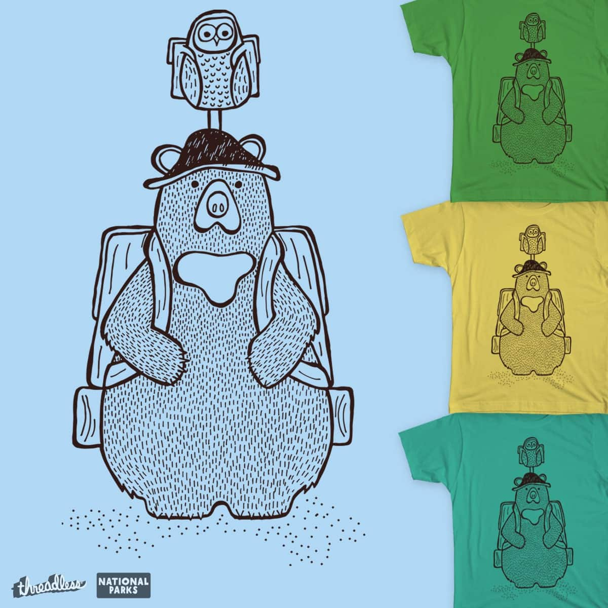 Out for a Hike by treemanjake on Threadless