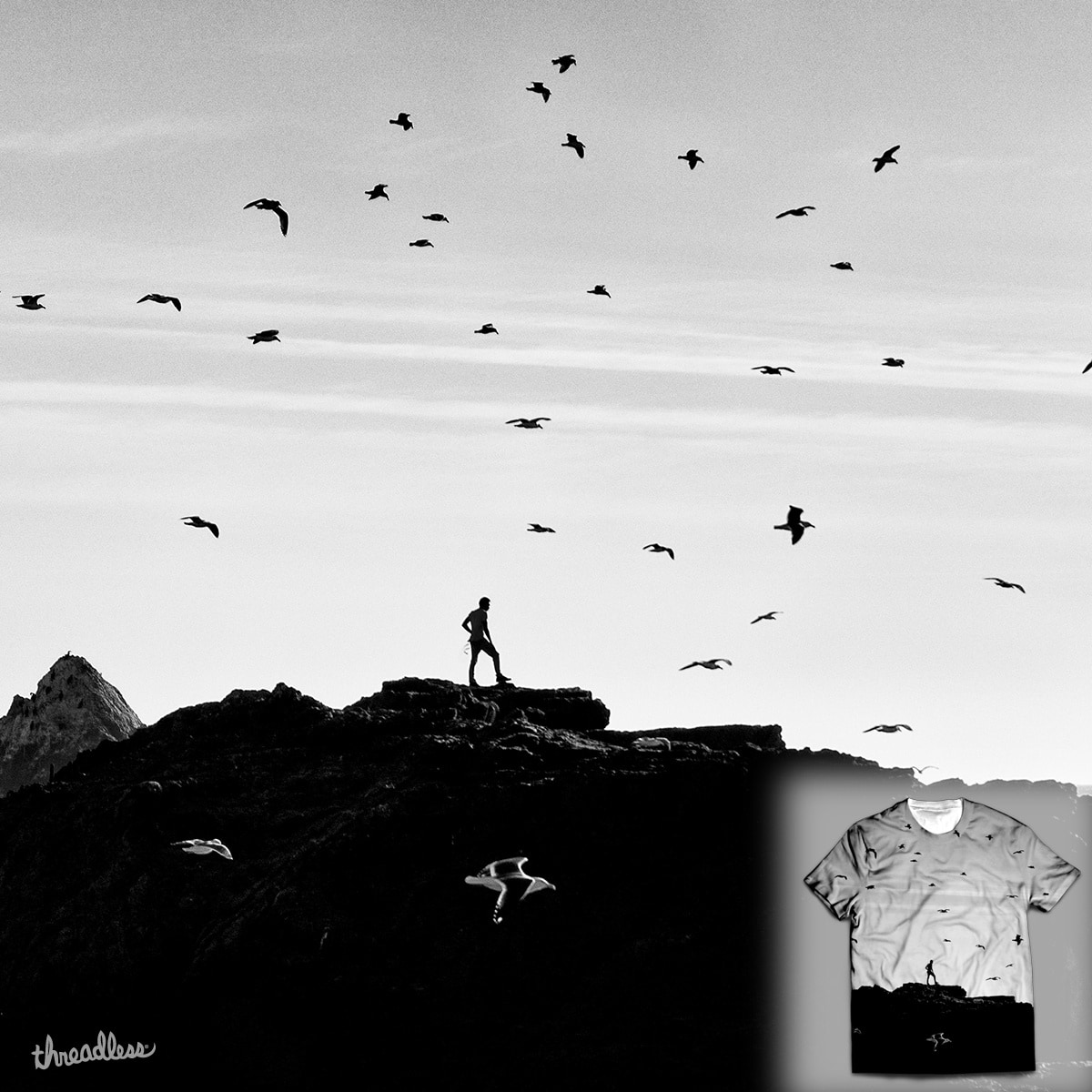 Flock of Seagulls by recasper on Threadless
