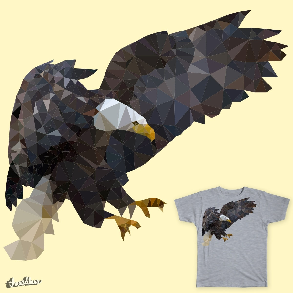 Score Triangle eagle by Zsuma on Threadless