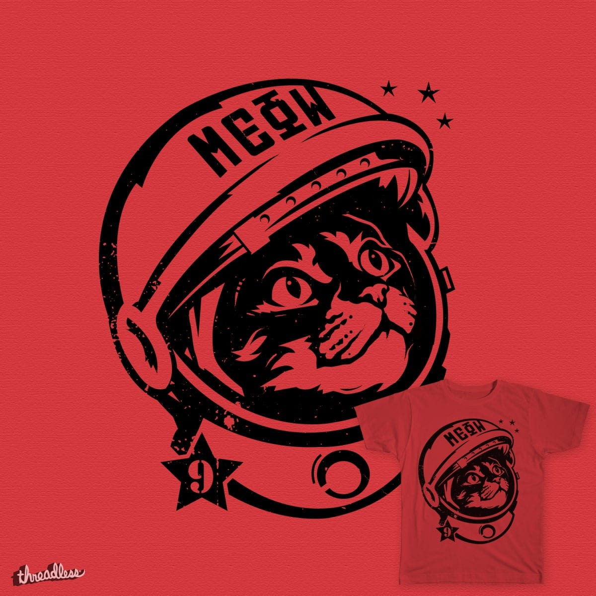 """Space Cat - """"Believe"""" by chairmanmeow9 on Threadless"""