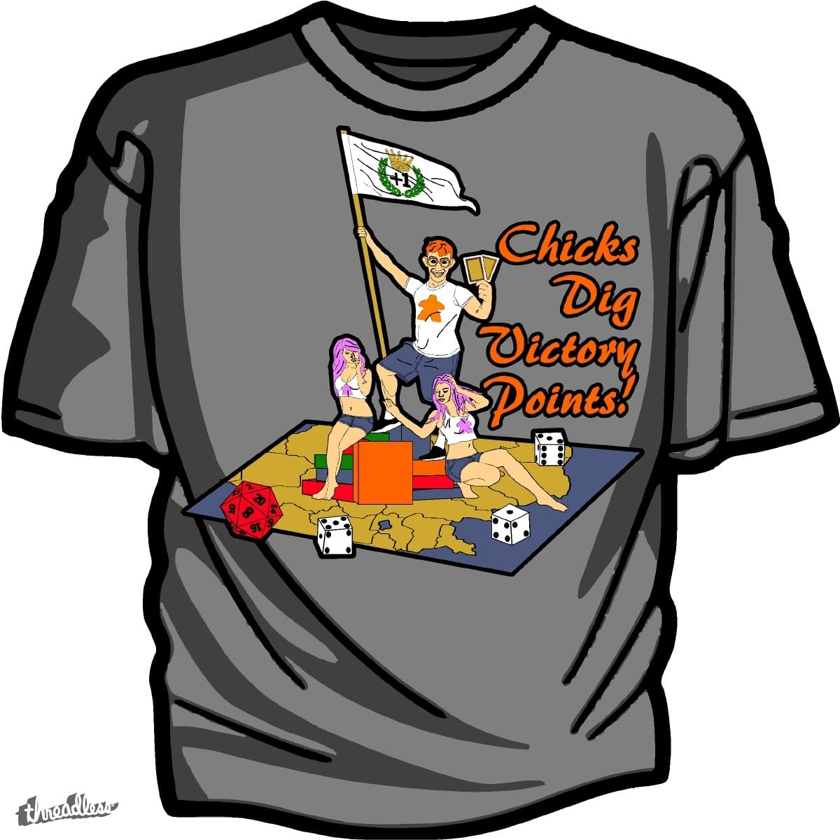Chicks Dig Victory Points by RyTracer27 on Threadless