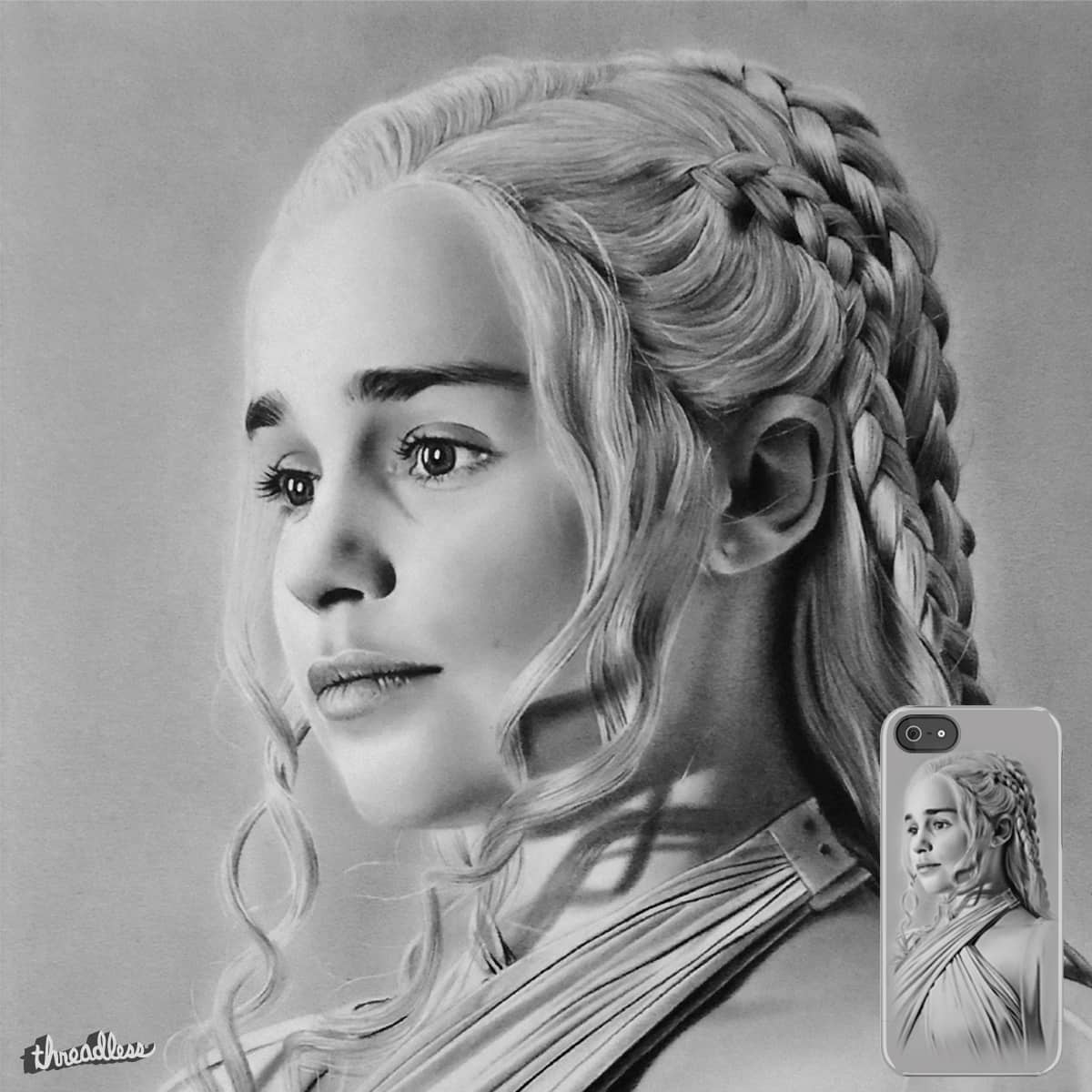 drawing game of thrones Score Pencil Drawing Of Emilia Clarke From Game Of Thrones