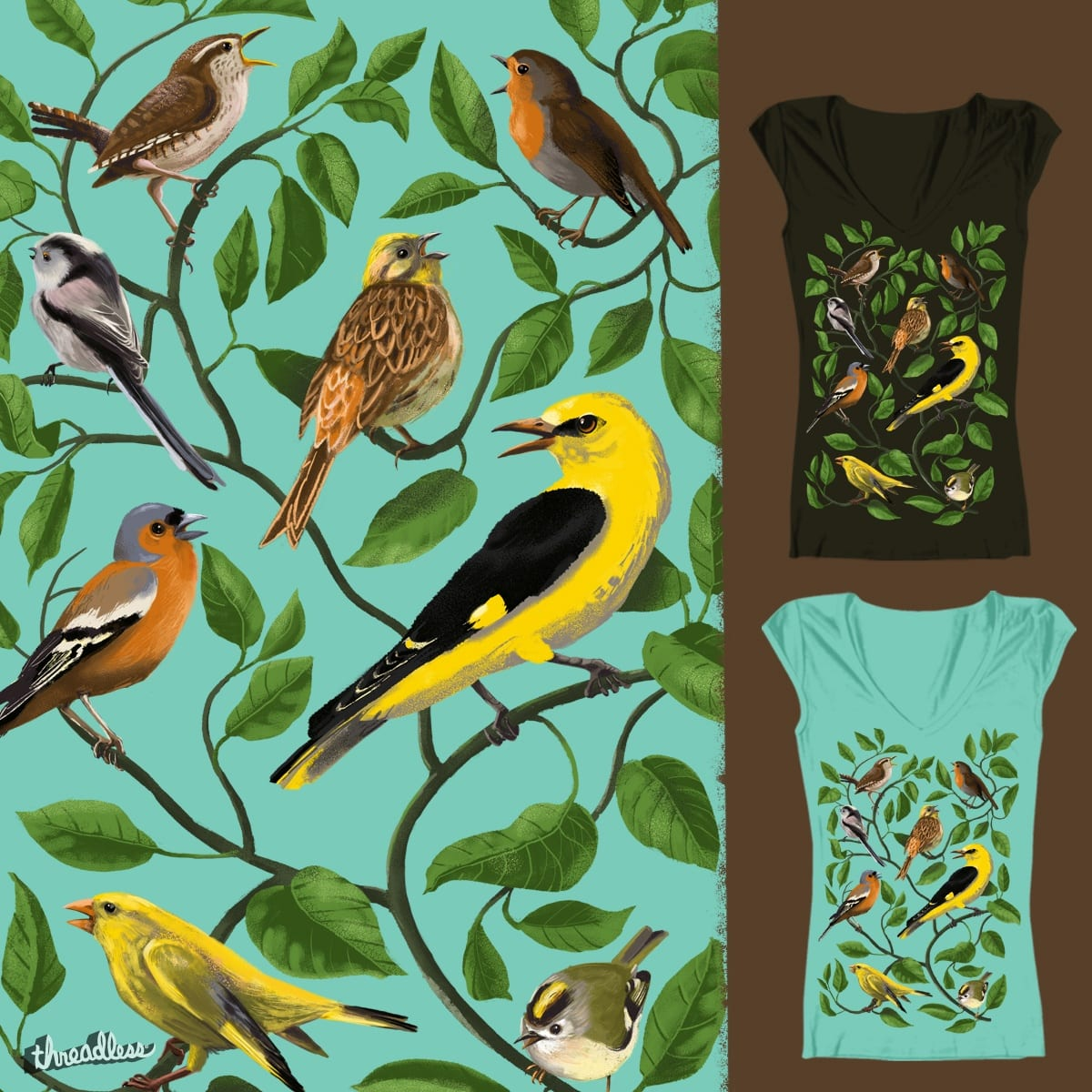 Some singing songbirds by deadsquirrel on Threadless