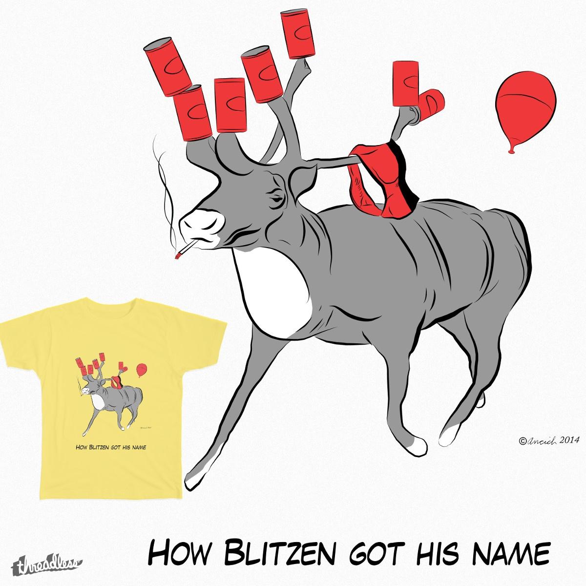 Reindeer Blitzen by PastExpiry on Threadless