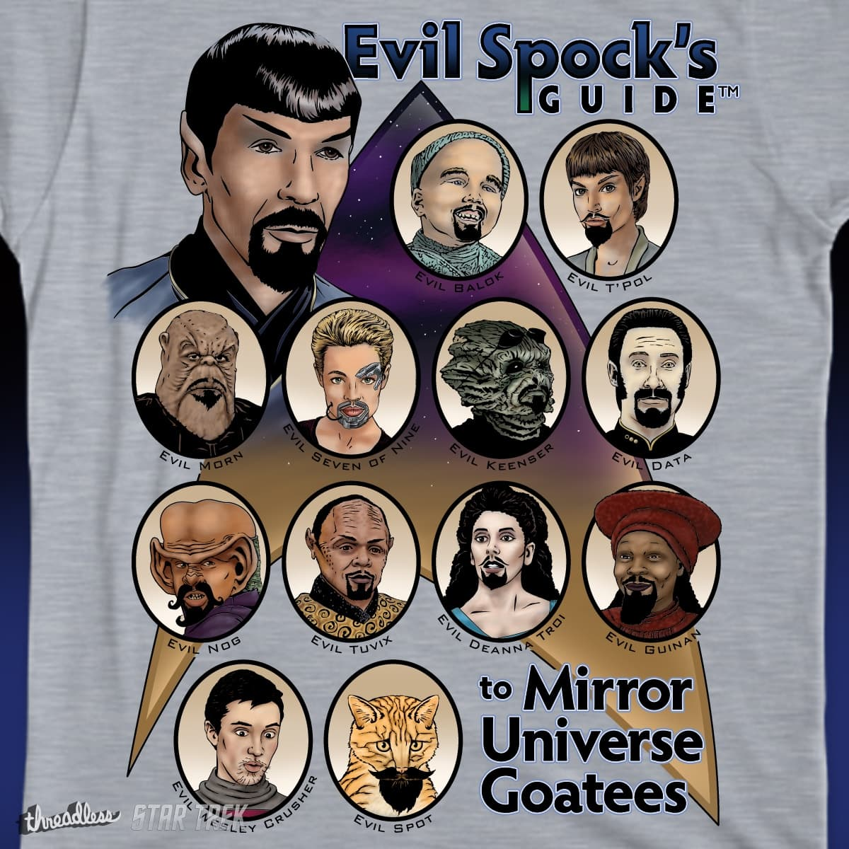 mirror universe. evil spock\u0027s guide to mirror universe goatees by jeremy_s on threadless m