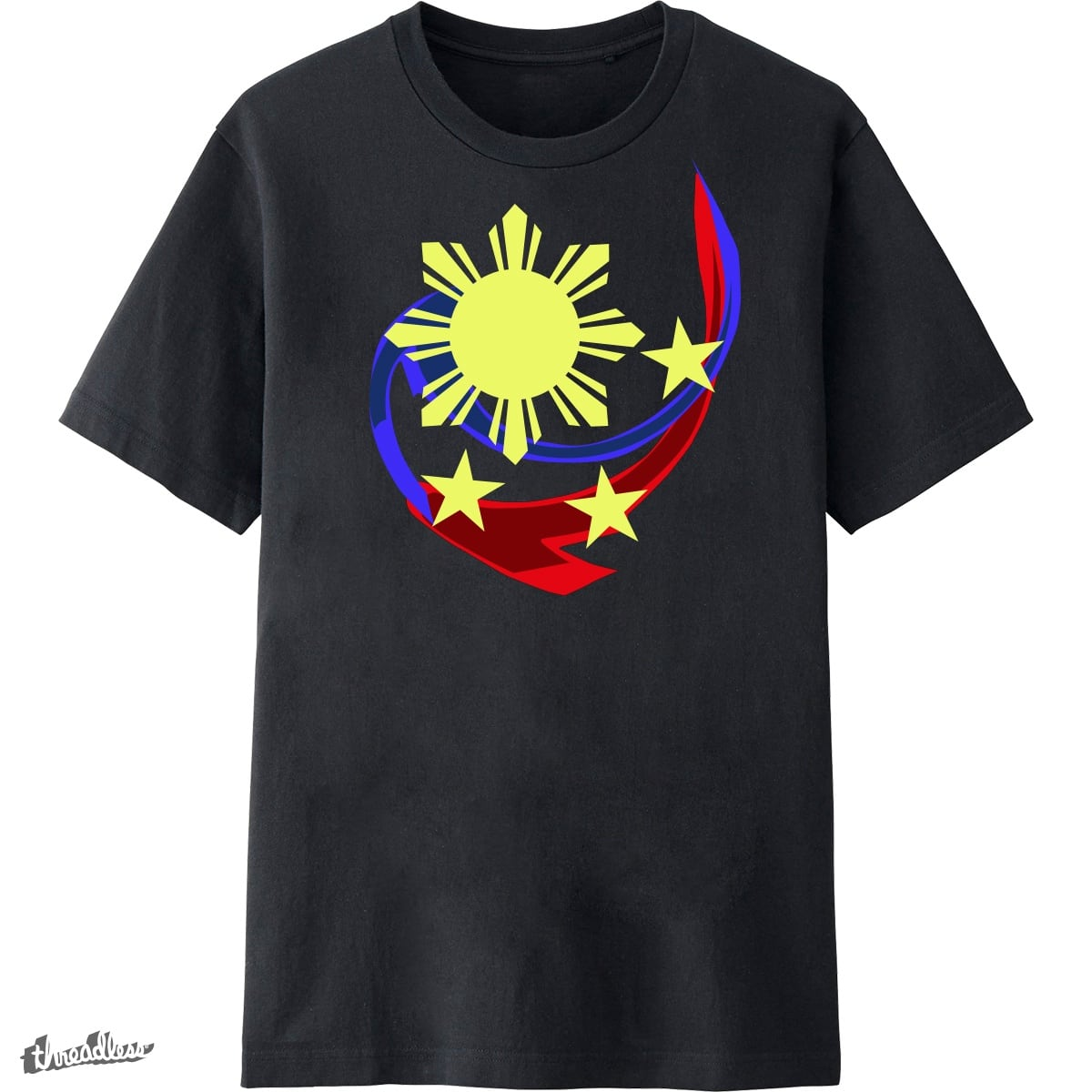 Score philippines flag design by jcarvajal on threadless for Philippines t shirt design