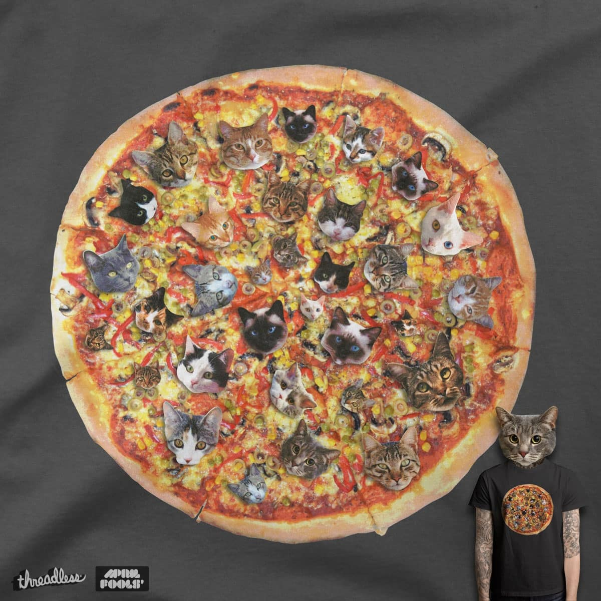 If the internet was a pizza by quick-brown-fox on Threadless