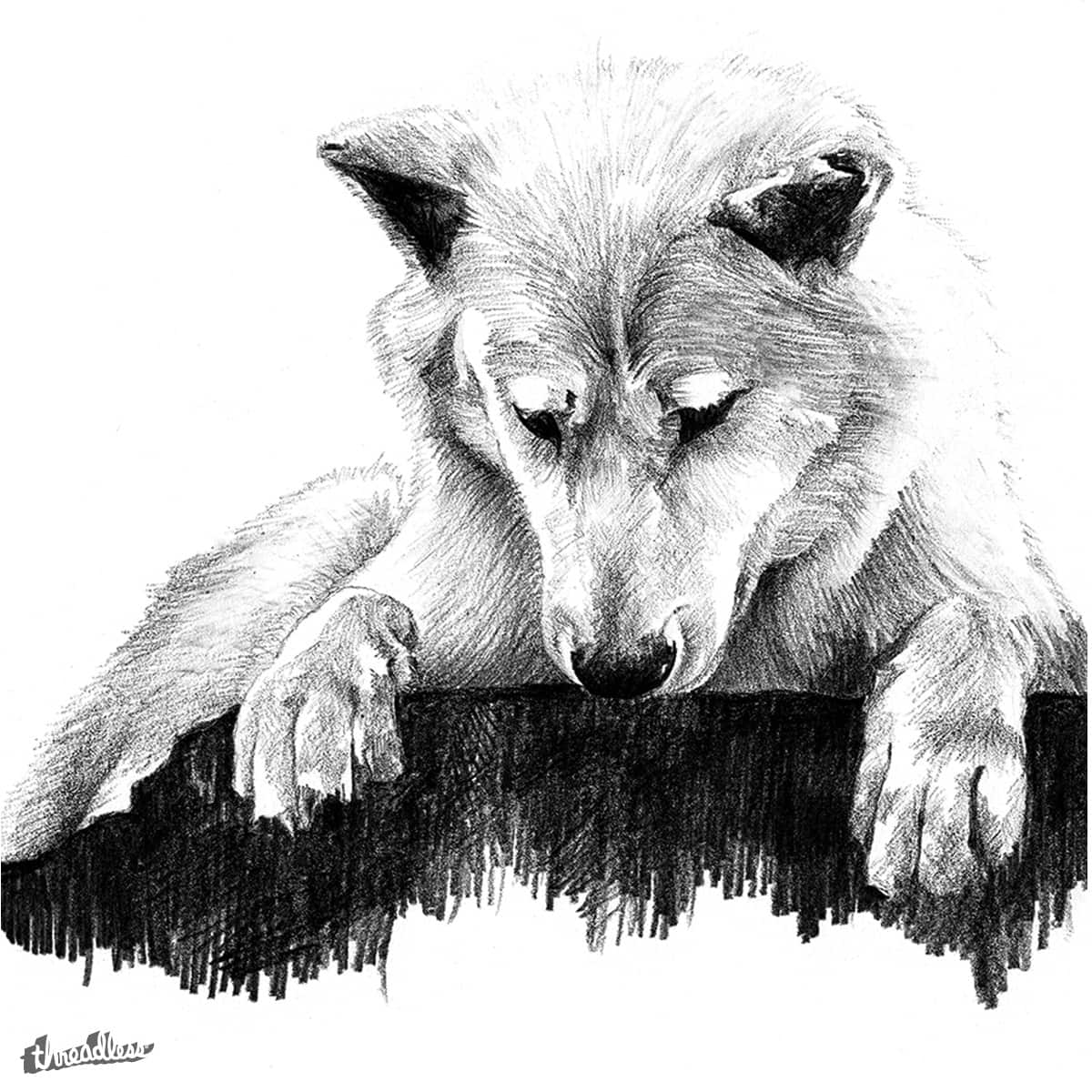 THE WHITE WOLF by CharlotteLMC on Threadless
